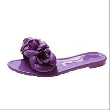 ASILETO 2020 Новые цветочные слиперы, летние женские слиперы, домашние повседневные слиперы, пляжные шлепанцы, входетнамки, прозрачная обувь(Китай)
