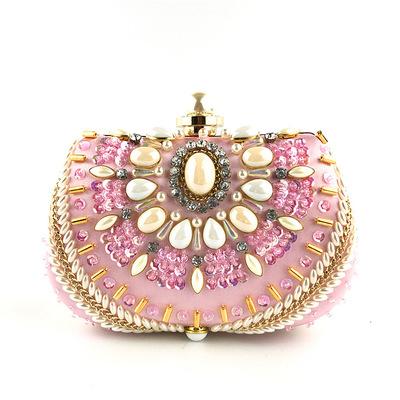 SEKUSA клатч сумочка Женская Круглый клатч вечерняя сумочка кристалл алмаз свадебный кошелек сумочка Изысканная цепочка сумка на плечо(Китай)