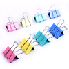 6size 4color colorful Metal Binder Clips for office usage