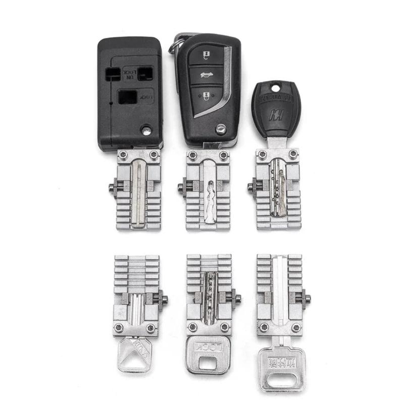 Universal Car Keys Clamp Fixture Folder Clip For All Key Cutting Copy Duplicating Machine Parts Locksmith Tools 2 pieces/lot