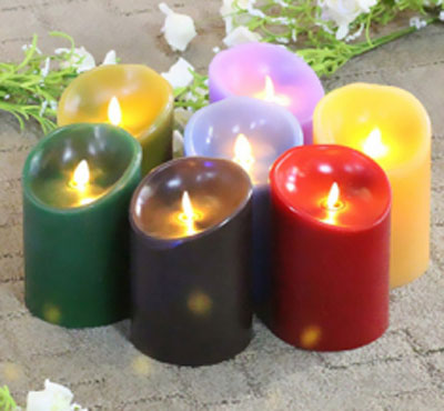 Incredibly Realistic Flameless Moving Wick Flame Candle with Timer. Unscented. Battery Operated & Remote Ready birthday candle