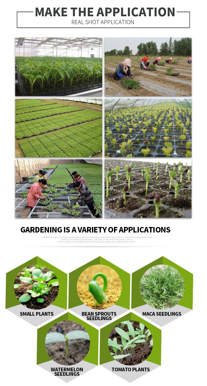 2019 agujeros de plántulas de plantación de bandeja de plástico para semillas macho bandejas