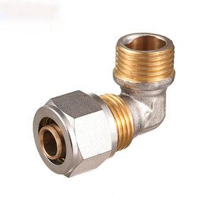 Hot Sale ISO9001 Elbow Quick Brass Fittings Metal Push-In Pneumatic Connector