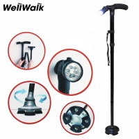 Aluminium elderly Folding outdoor walking stick