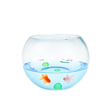 Grand Rond bol de poisson en Verre Transparent