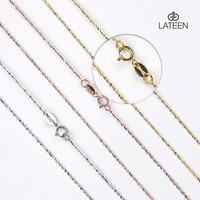 Wholesale Fashion Jewelry 16-18-24 inch Gold Silver Chain 925 Sterling Silver Chain Necklace Chain