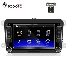 "Podofo 2din de coches reproductor de vídeo de 7 ""HD Android ISO autoradio mirrorlink Bluetooth USB Video para VW Golf Skoda asiento"