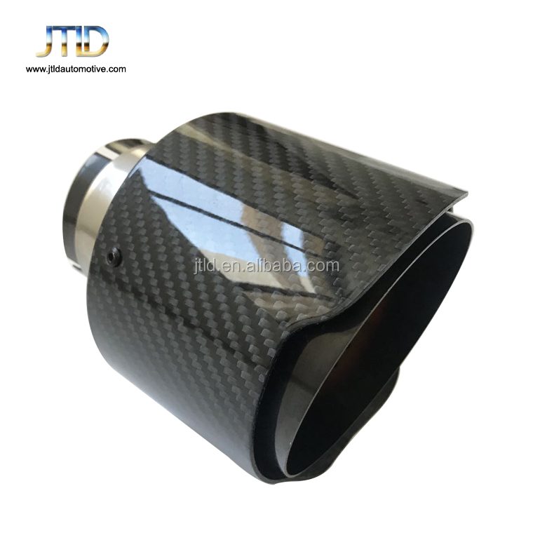 high Performance exhaust system pure glossy slant Carbon fiber Exhaust Tip for ak