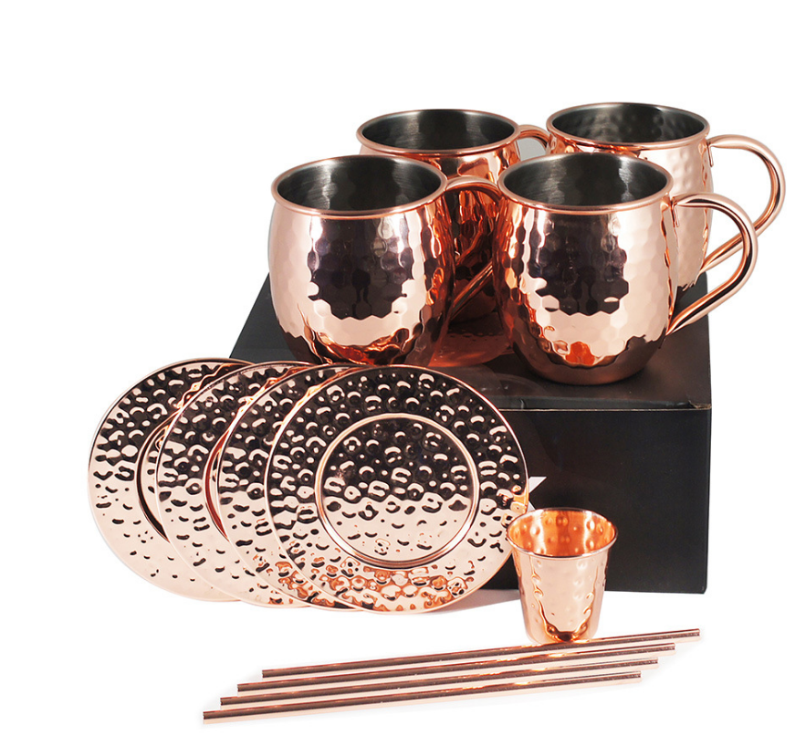 China Wholesale Copper Cup Moscow Mule Mug 100% Pure Copper Coffee Cup
