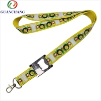 Custom high quality fashion elastic polyester bottle opener satin lanyard