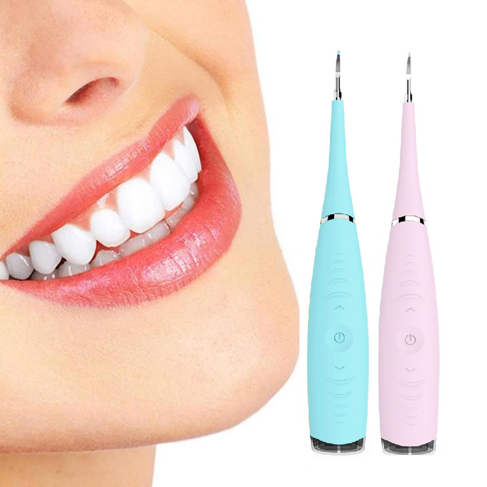 2020 New Portable Waterproof Rechargeable High Frequency Vibration Electric Dental Calculus Remover Tooth Cleaner