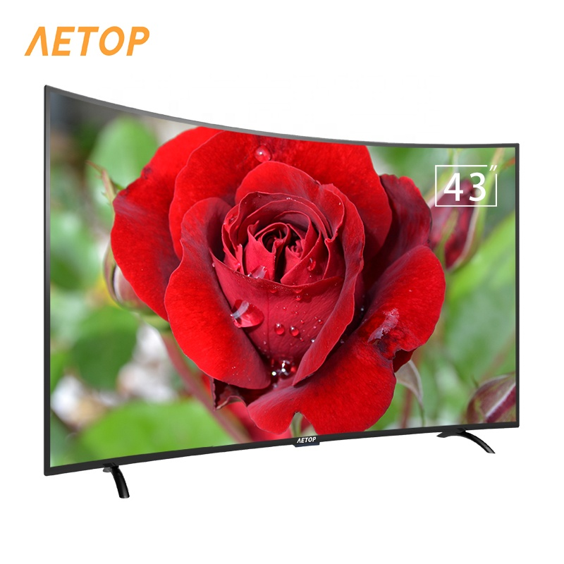 Free shipping-4k HD android television smart tv 43 inch curved led tv screen with DVB-S2/T2