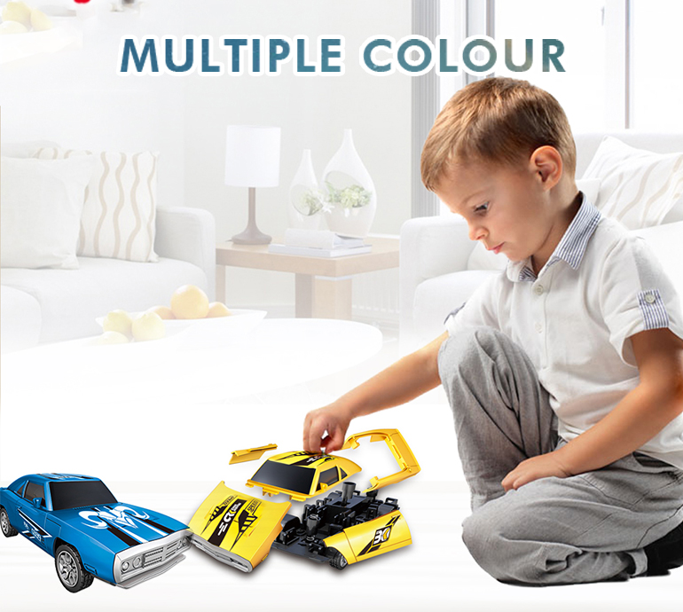 Kids take apart vehicle set mini plastic 3D model diy assembly car toys