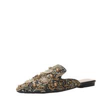 Новинка; Женская летняя обувь; Тапочки; Пикантная женская обувь с острым носком; Модная женская обувь на плоской подошве, украшенная стразам...(Китай)