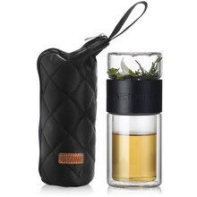 200 мл стеклянная бутылка с двойными стенками из боросиликатного стекла бутылки для воды с фильтром для заварки чая герметичная чашка кофейн...(Китай)