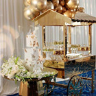Gold Acrylic Wedding Flower Cart Candy Carts