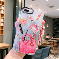 New arrival luxury bag printing liquid quicksand back cover case cell phone accessory for iphone11pro max 6 7 8 plus X xr xsmax