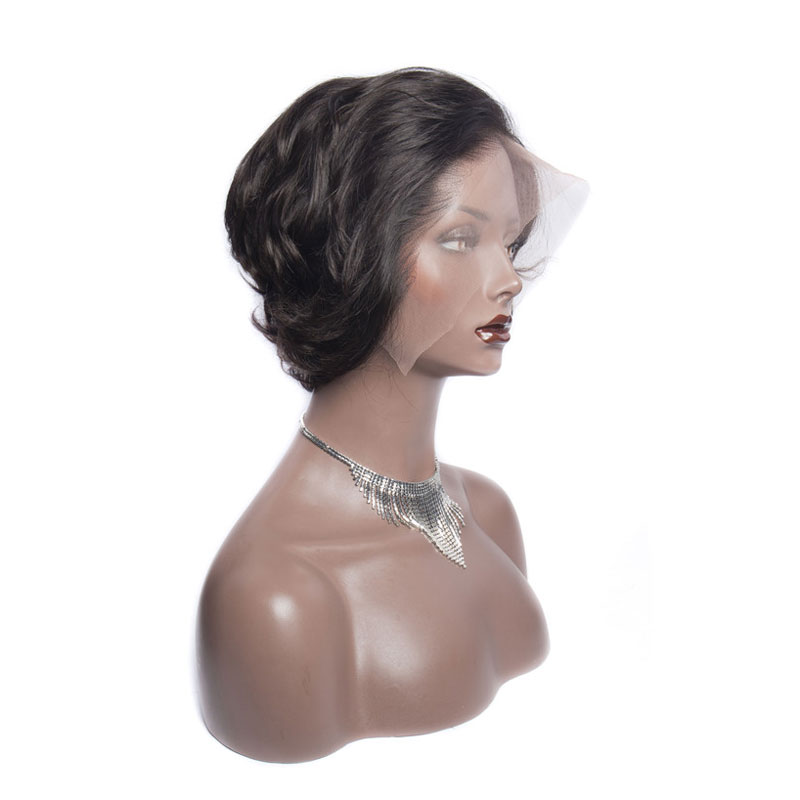 <strong>Cheap</strong> Brazilian <strong>Hair</strong> <strong>Lace</strong> <strong>Front</strong> <strong>Wig</strong> 100% Virgin Brazilian Cuticle Aligned <strong>Human</strong> <strong>Hair</strong> <strong>Wig</strong> Modern Show Short Loose Wave Pixie