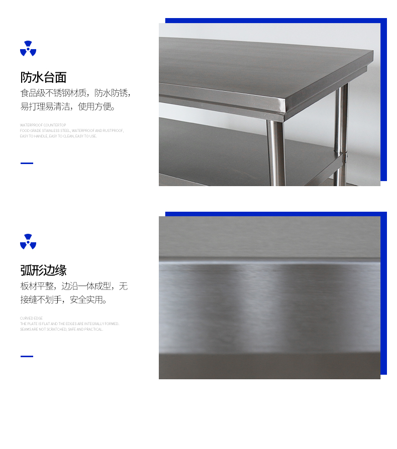 Many Size  Heavy duty Kitchen factory Stainless Steel Workbench work table