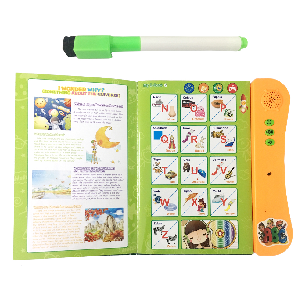 baby electronic touch toys educational musical children coloring english intelligent learning books for kids