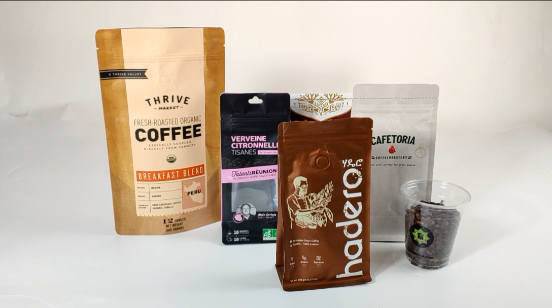 Custom Printed Bottom Gusset Packing Coffee Packaging Foil Lined Coffee Bean Kraft Paper Bag With Valve
