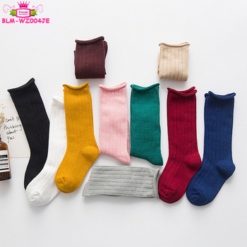 Children Socks Wholesale Candy Color Medium Socks For Baby Girl