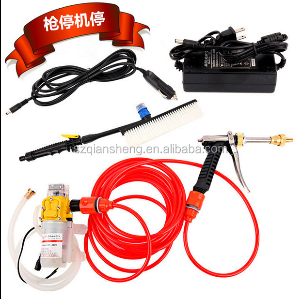 DC 12V 160PSI High Pressure Car Electric Washer Wash Pump Set Portable Auto washing machine Kit