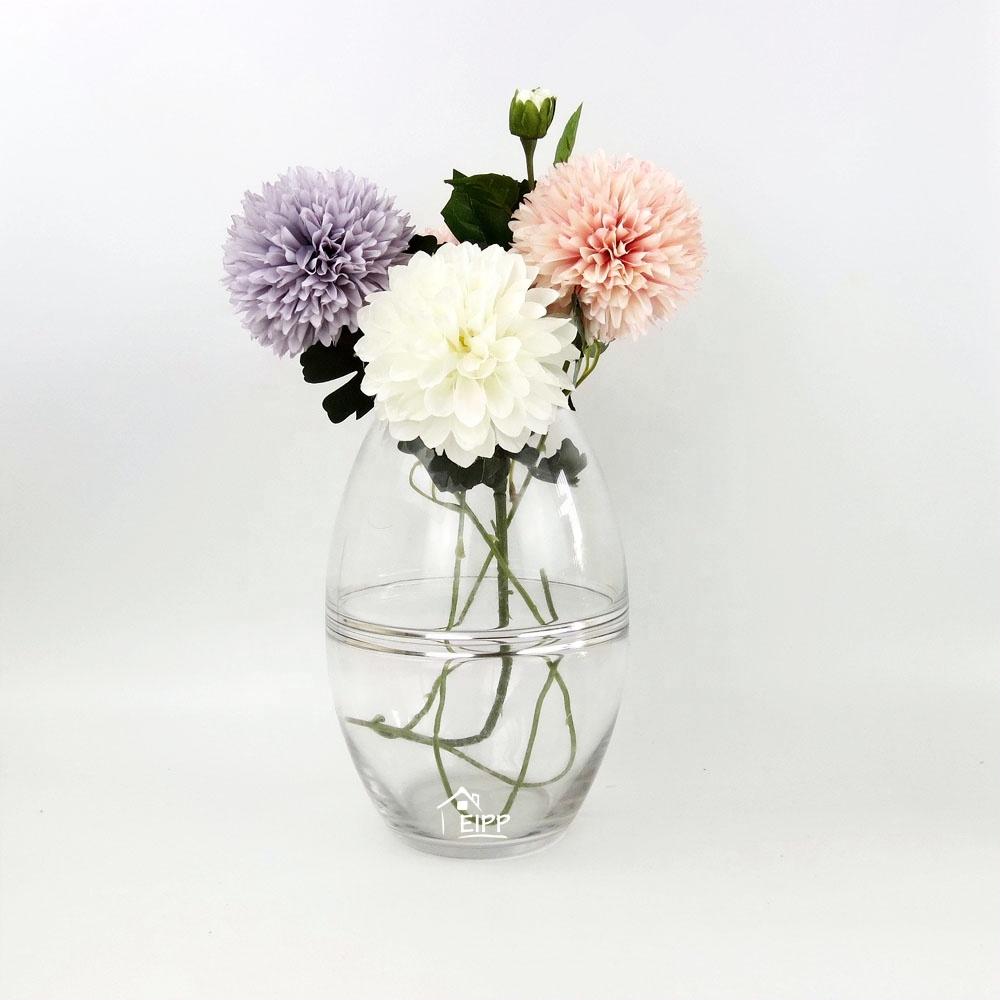 Handblown прозрачные круглые большие стеклянные хрустальные вазы для украшения дома