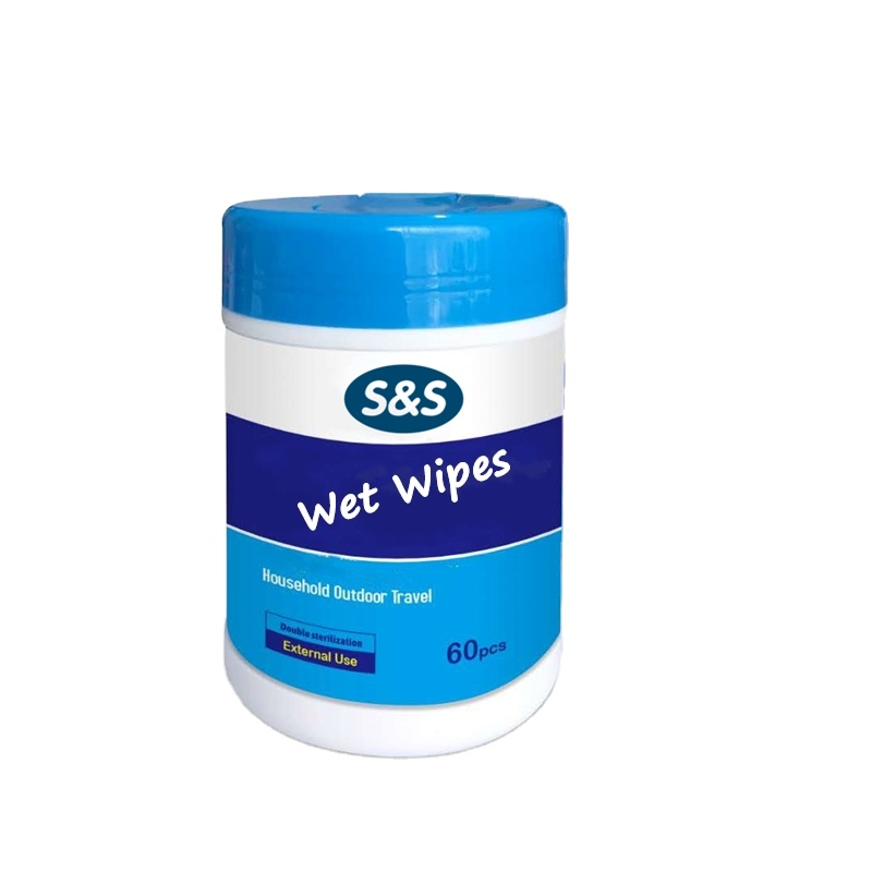 OEM/ODM  Face Hands Cleaning Wet or Dry Wipes Caniste