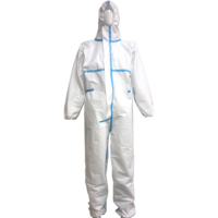 Manufacturer Spot Supply CE Disposable Non Woven Unsterilized Overalls Waterproof Dustproof Isolation Clothing