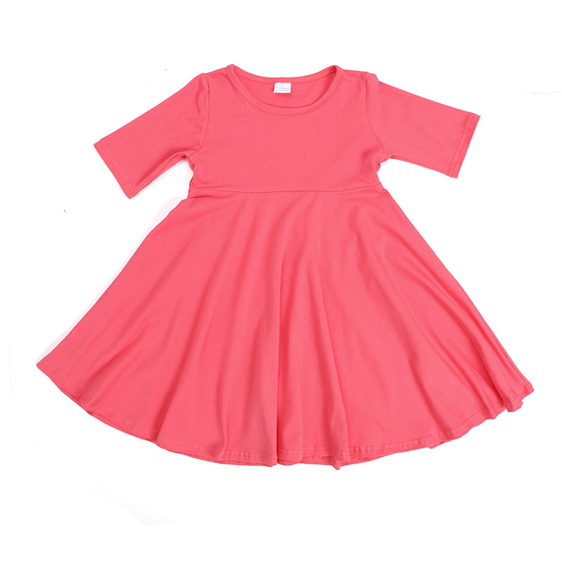 Boutique children plain <strong>cotton</strong> dresses summer fashion <strong>baby</strong> <strong>cotton</strong> dress <strong>frocks</strong>