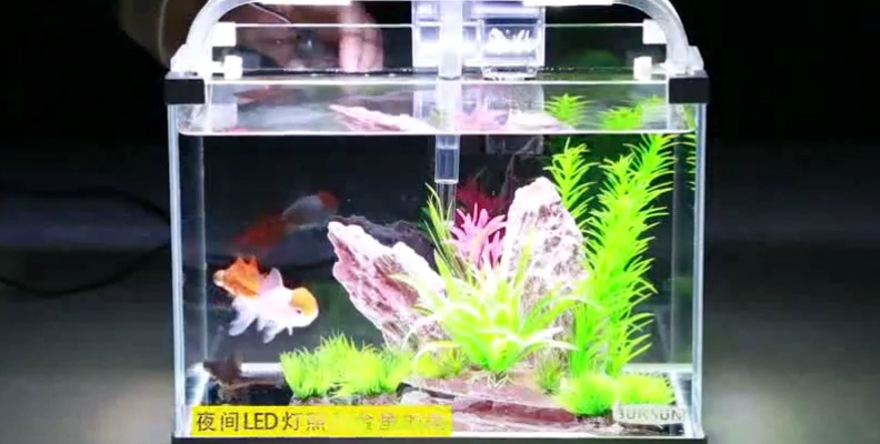 Ecological Ultra clear glass tropical fish LED table fish tank Landscape aquarium MOQ 500 pcs