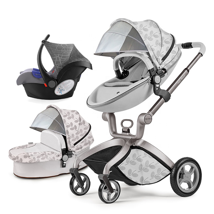 Cochecito de bebé 2019 para recién nacido a bebé, cochecito de bebé con sistema de viaje 3 en 1, cochecito de huevo todo terreno para mamá caliente,