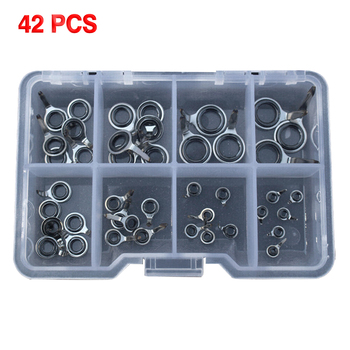 42/70Pcs Stainless Steel Sea Fishing Rod Guide Rings Eyes Tackle Accessories