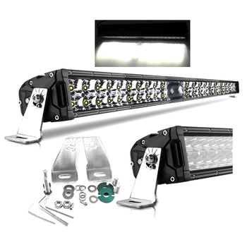 Super Bright 2000m 2 Dual Row Offroad 4x4 LED Laser Light Bar Spot And Flood Beam 14 22 32 43 50inch Car Barra LED Light