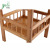 High Quality 100% Natural Bamboo 2 Tier Sofa Side End Table Square Storage Corner Rack Shelf For Living Room