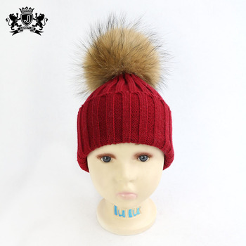 Wholesale High Quality Children Pom Hats Kids Beanie Hat Baby Hat Knitted