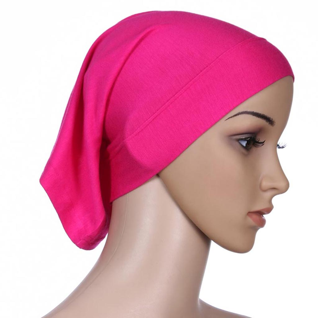 Women/'s Hijab Cap Under Scarf Muslim Head Scarf Ninja Cap Headdress Cap Pink