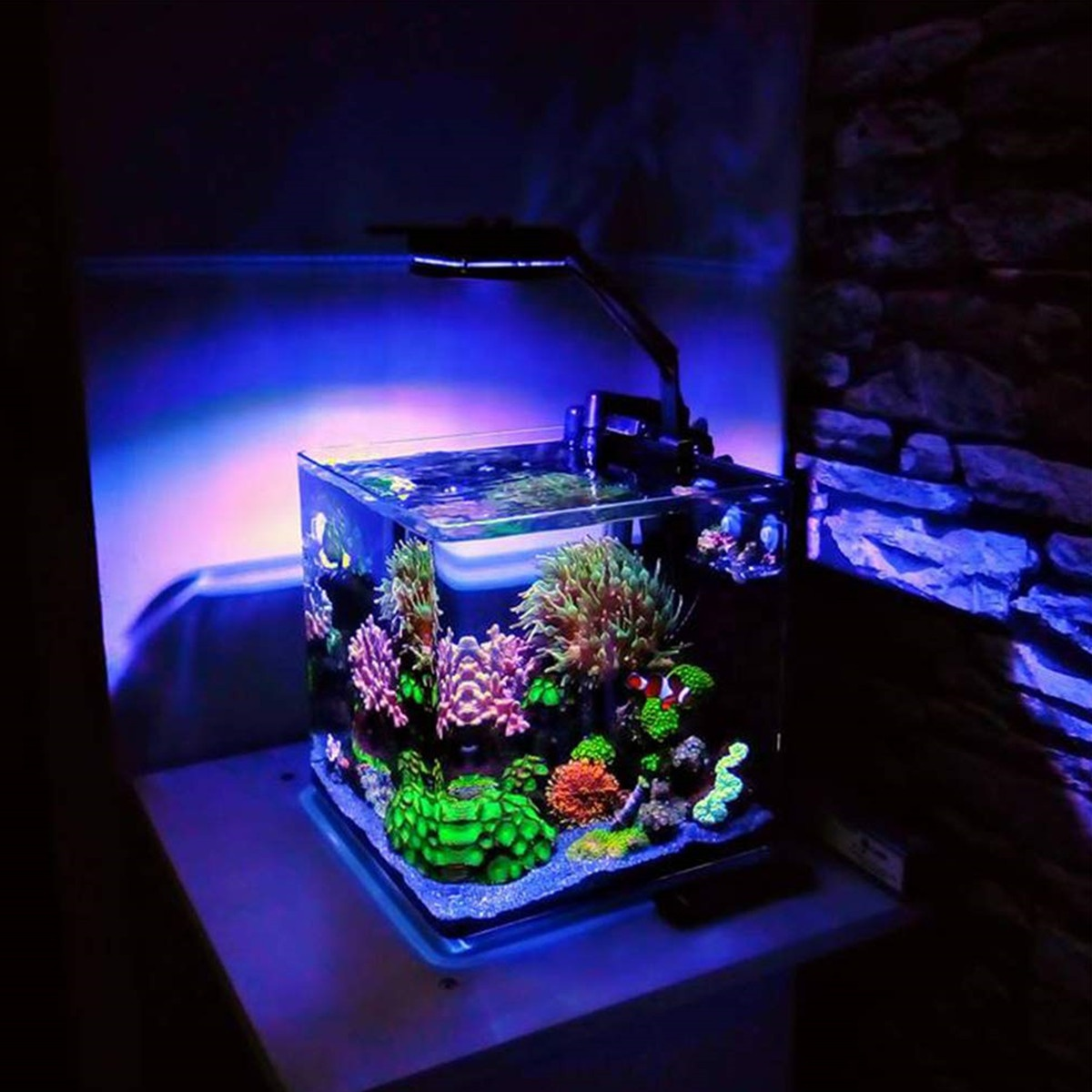 48&quot; LED Aquarium Light Planted Colorful 46cm Dimmable LED Light Aquarium LED Aquarium Lights for <strong>Fish</strong> and Coral Reef <strong>Fish</strong> Tan