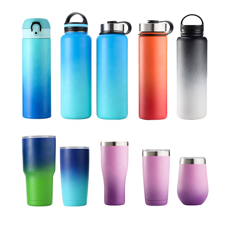 Ready to ship hydro double wall vacuum flask insulated stainless steel water <strong>bottle</strong> 18oz 32oz 48oz 64oz