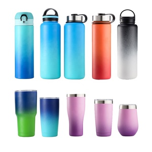 Ready to ship hydro double wall vacuum flask insulated stainless steel water bottle 18oz 32oz 48oz 64oz