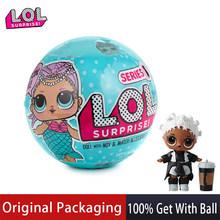 Оригинальные куклы LOL surprise, оригинальные куклы lols, 5-я цель для волос, куклы-сюрпризы с аксессуарами, игрушки для девочек, рождественские пода...(Китай)