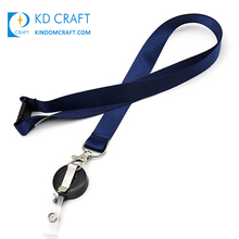 Made in china platte polyester blank dye sublimatie intrekbare id houder enkele aangepaste badge reel lanyard geen minimum order