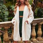 r40326s 2019 Autumn and winter new women lapel straight long trench coat with pocket