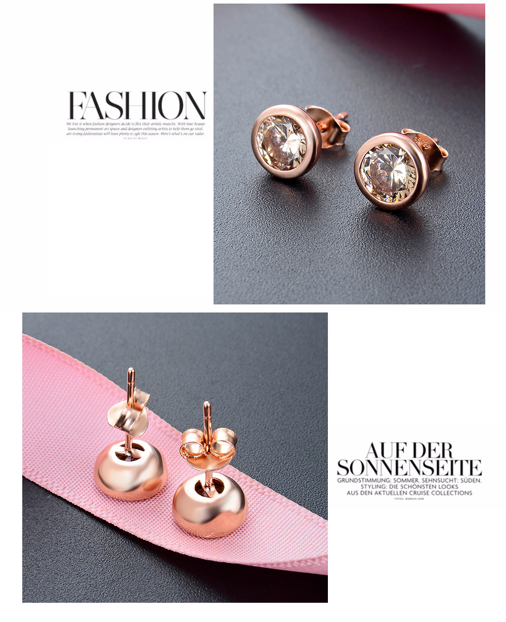 F.ZENI 925 silver high quality crystal stone no fade earring vintage statement gold plated earrings for lady