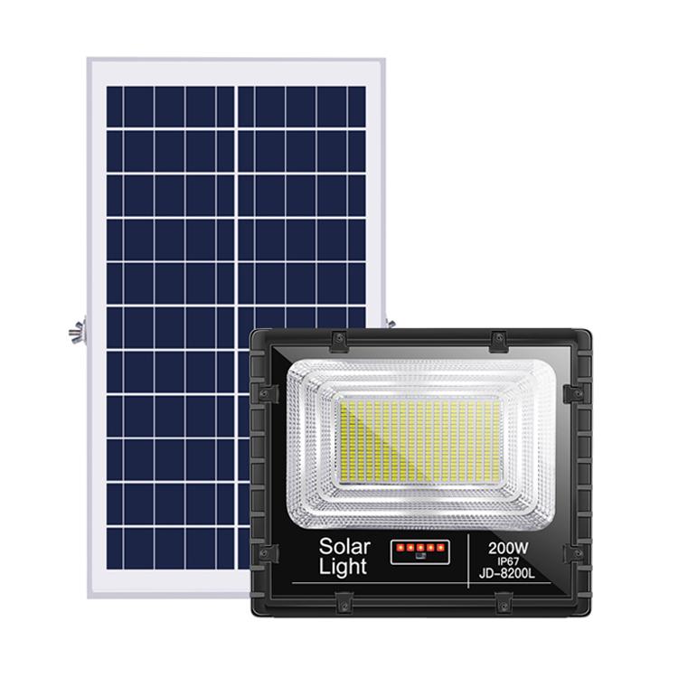 IP67 2 Ans De Garantie Étanche Crépuscule à L'aube Solaire Projecteur 200W Projecteur Réflecteur 100W 300W LED Solaire lumière d'inondation