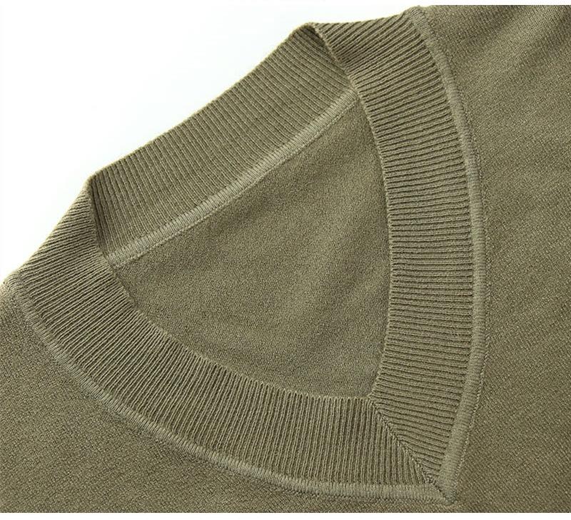 Pull col V pour femmes à manches longues pull