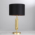 Modern Black Shade Handcrafted Brass For Hotel Table Lamps