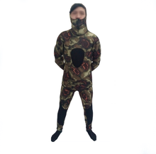 3 mét CR camo spearfishing suit two pieces <span class=keywords><strong>neoprene</strong></span> wetsuit có mũ trùm