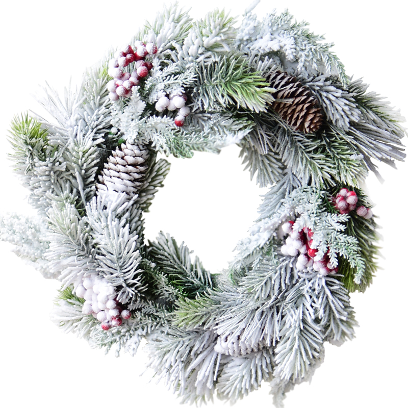 2020 New Artificial flowers Pine christmas wreath decorative